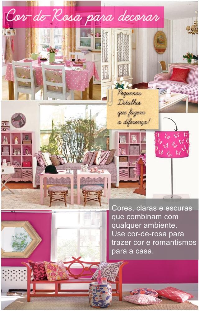 Decoração de Casas com Rosa