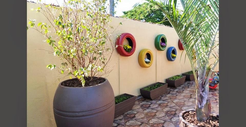 Decorar+jardim+com+pneu