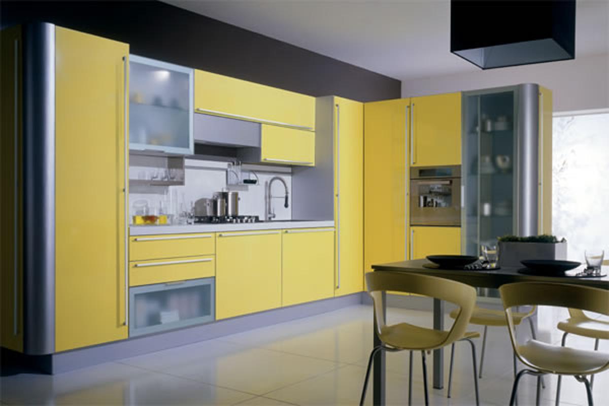 amarios de cozinha em amarelo