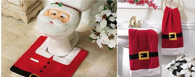 decoracao de lavabo para o natal:aqui vários exemplos de banheiros decorados com motivos de natal