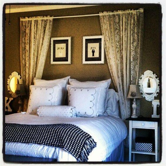 cabeceira cama cortinas