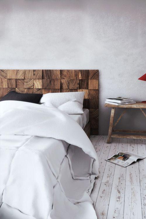 cabeceira cama madeira diy
