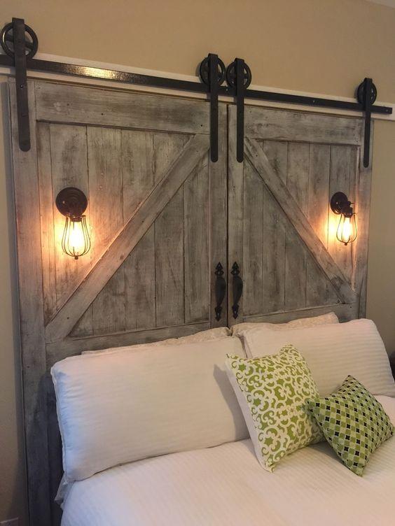 cabeceira cama porta madeira