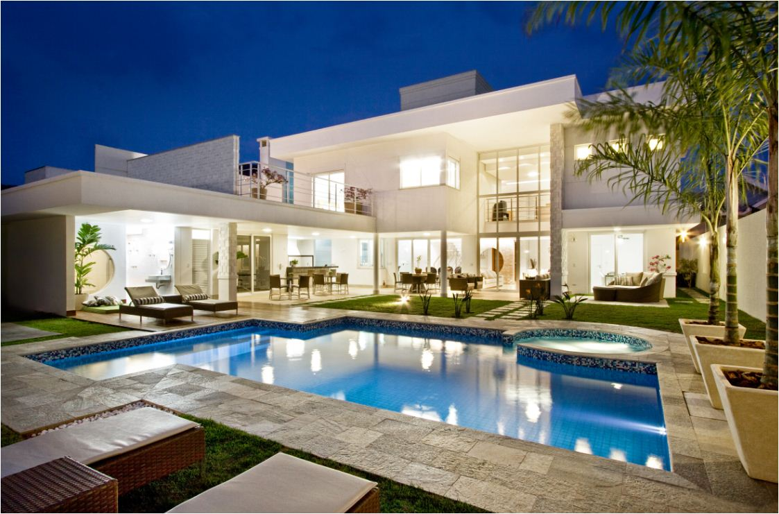 Casas modernas fachadas plantas e projetos for Exteriores de casas modernas