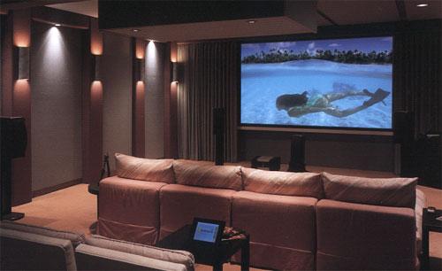 Decoração de home theater