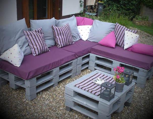decoracao jardim paletes:Conheça de seguida outros exemplos de sofás de paletes na nossa