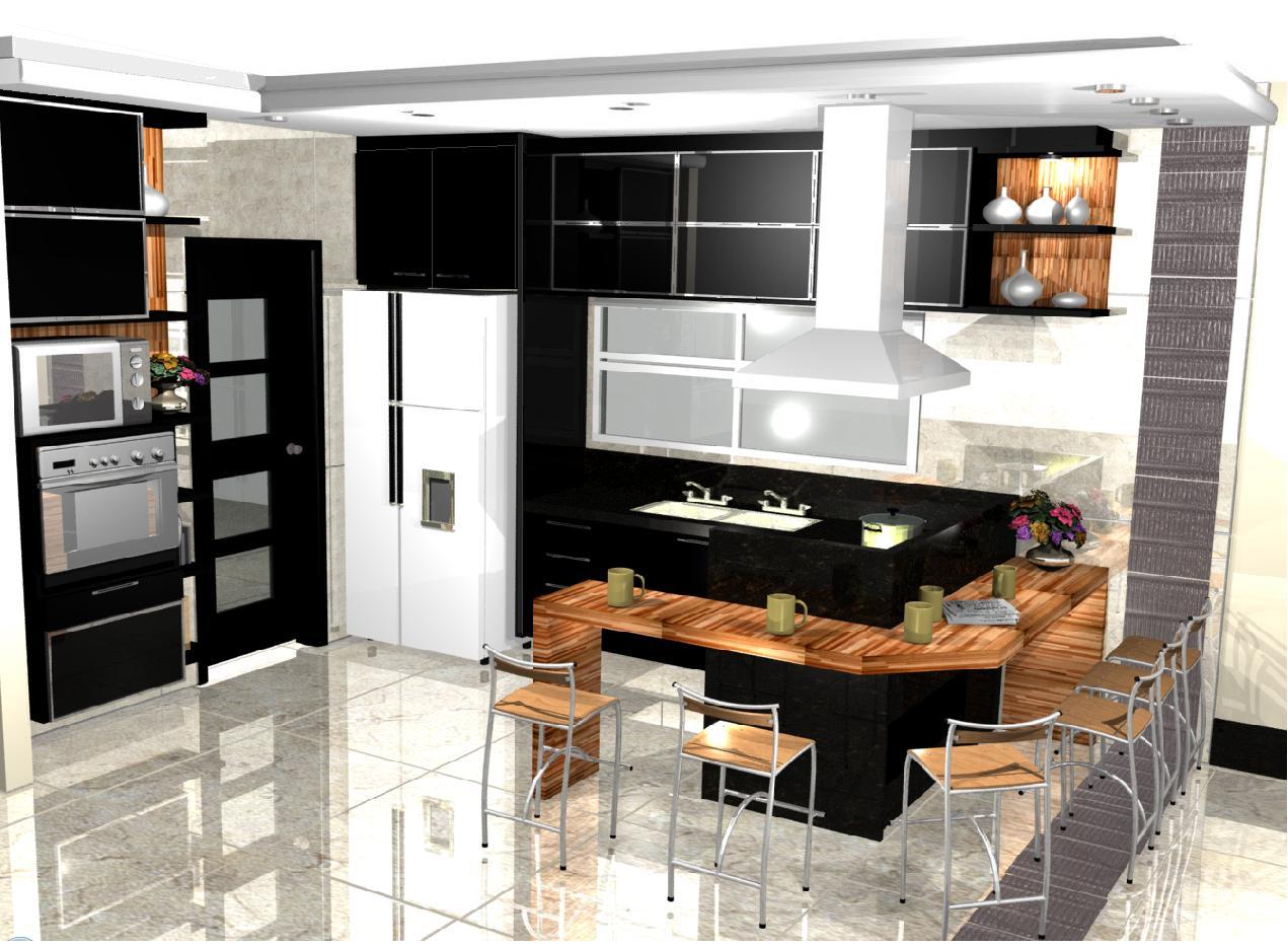 Cozinhas americanas planejadas #975E34 1271 934