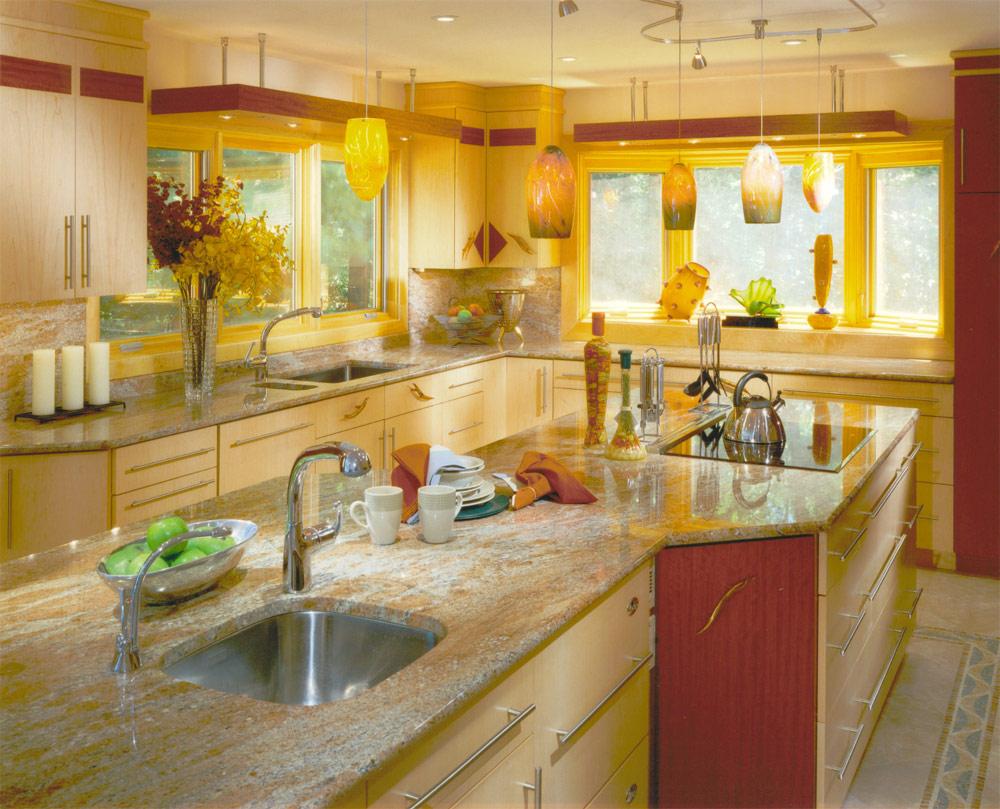 cozinha decorada em tons amarelos
