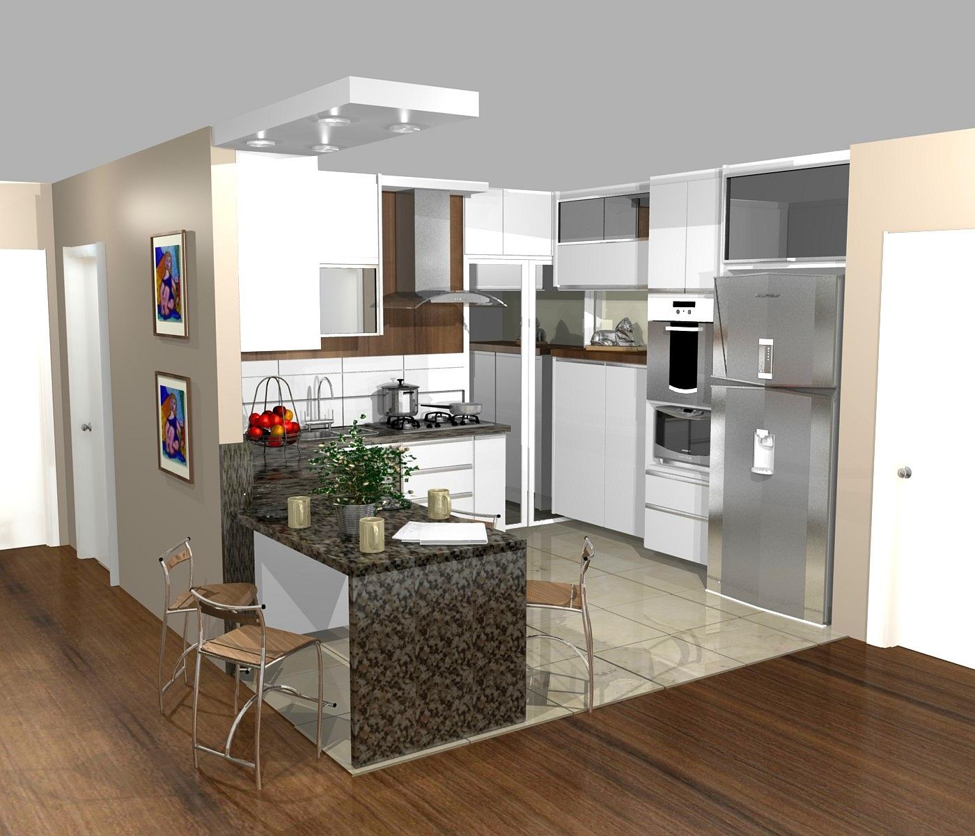 #24296E Ideias de Decoração de Casas e Interiores 1400x1200 px Bancada De Cozinha Americana Decorada #1353 imagens
