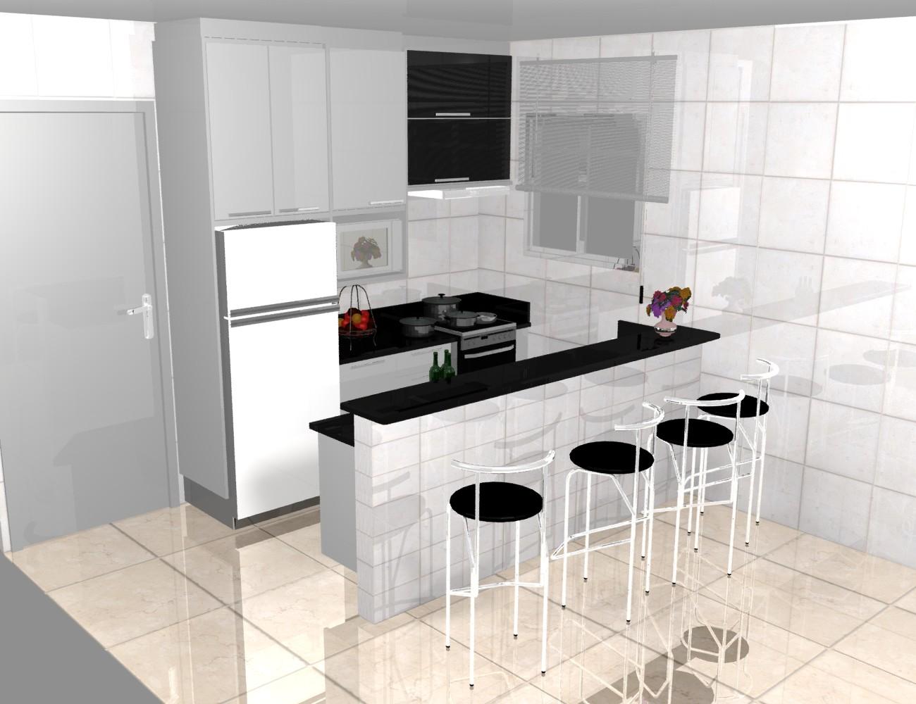 Cozinhas Planejadas Pequenas (Confira o Video) #703324 1300 1000