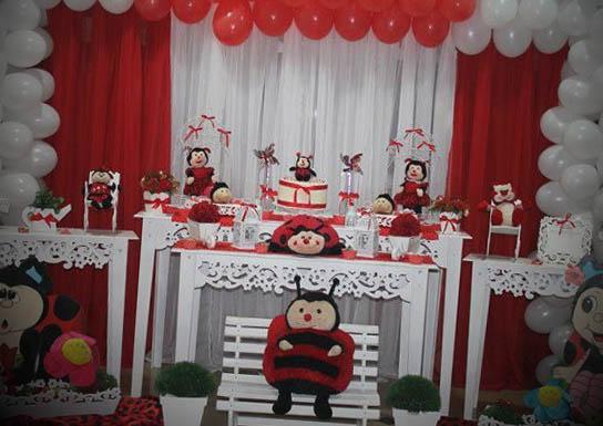 Dicas de decoração de festa infantil tema joaninha