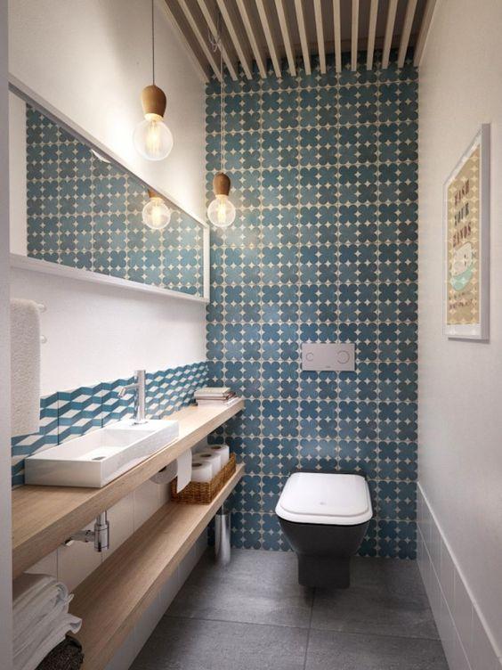 decoraçao banheiro papel parede