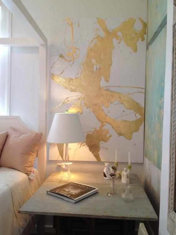 decoracao-quadro-dourado