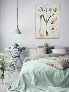 decoraçao quarto dormir verde