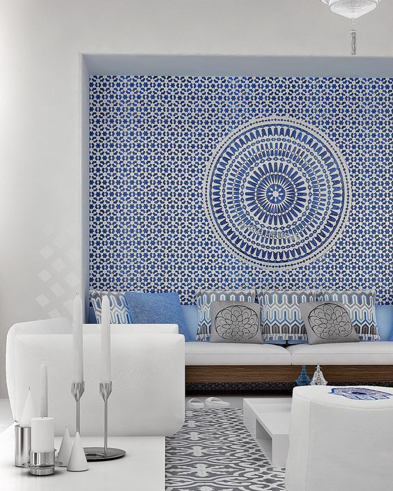 decoracao com papel parede sala 2