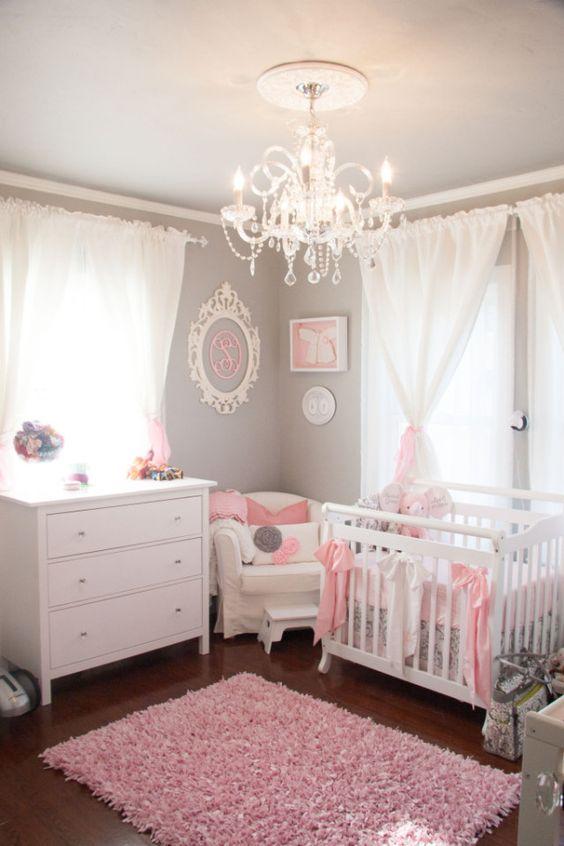 decoracao quarto bebe rosa