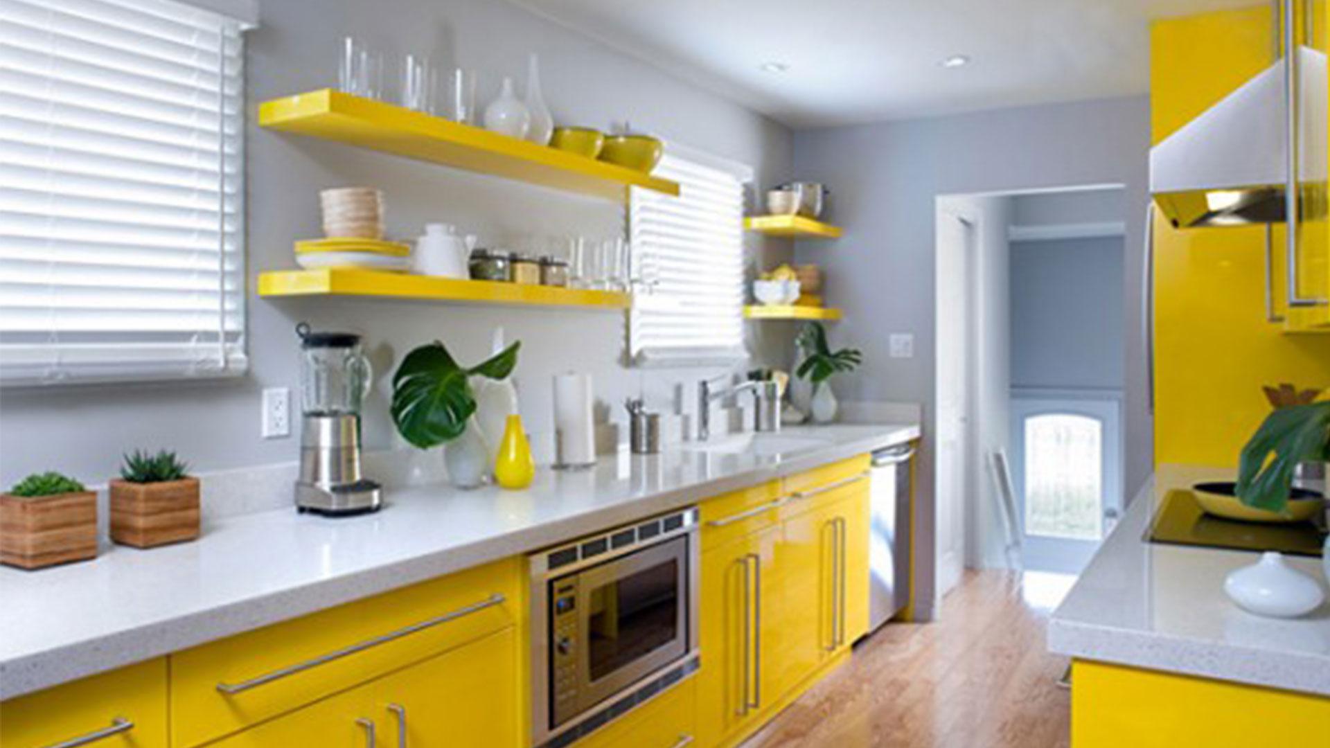decoracao simples cozinha amarela