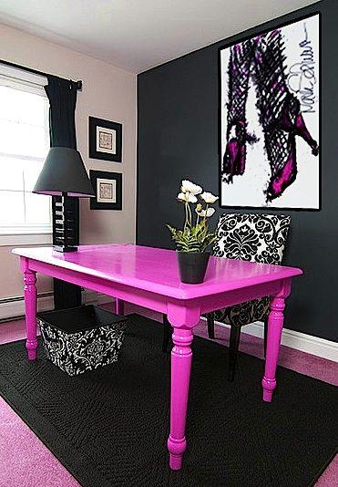 dicas decoracao escritorio rosa