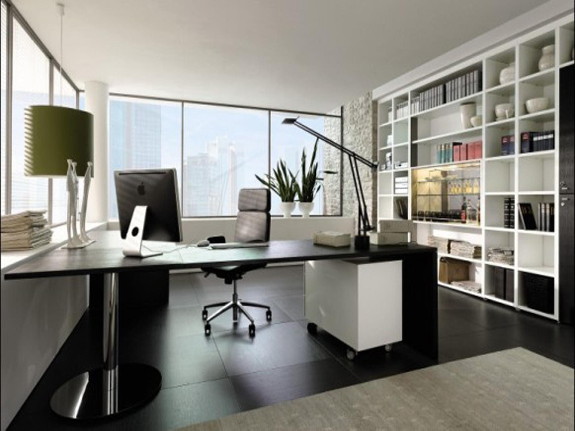 escritorio moderno em casa