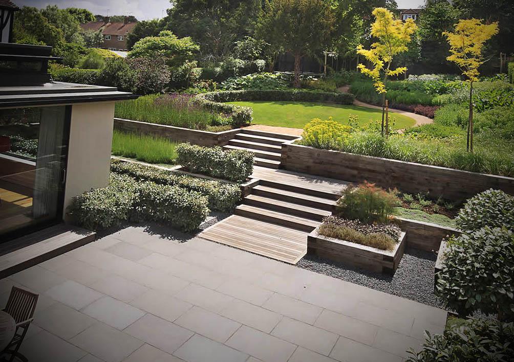 foto jardim externo decorado