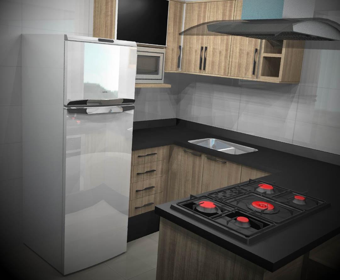 ideias cozinhas planejadas apartamentos pequenos #A72424 1081 891