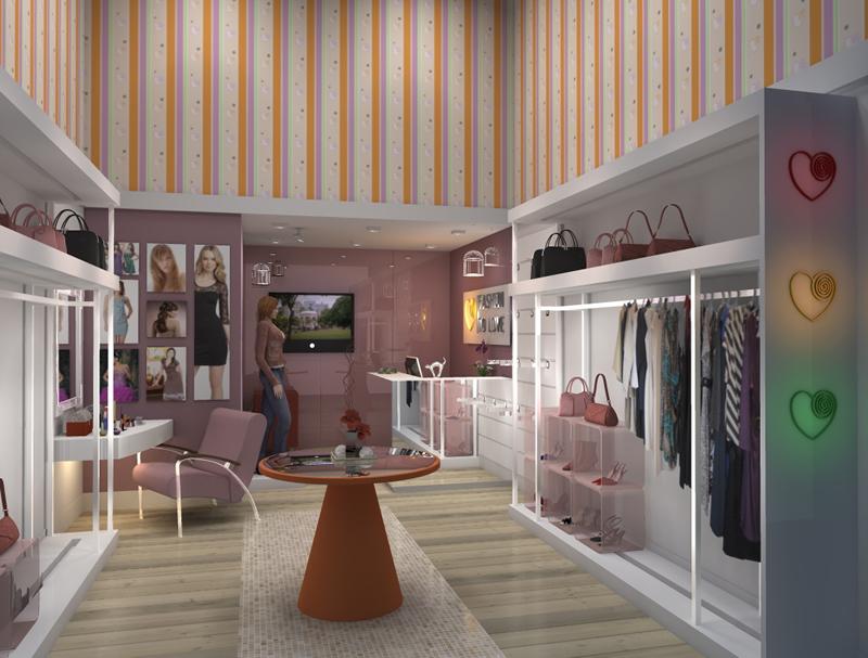decoracao de interiores de lojas de roupas:Papel de Parede para Lojas de Roupas