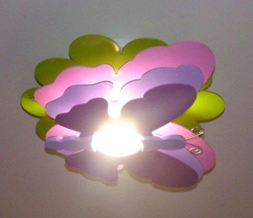 luminaria borboleta decoraco de quarto infantil