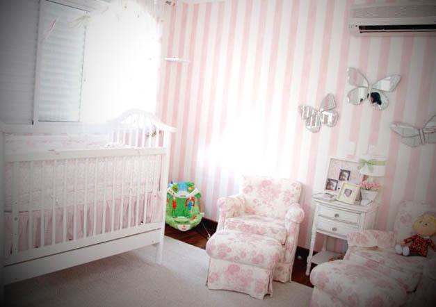 Adesivo Listrado Para Quarto De Bebe ~ papel de parede para quarto de beb? feminino listrado