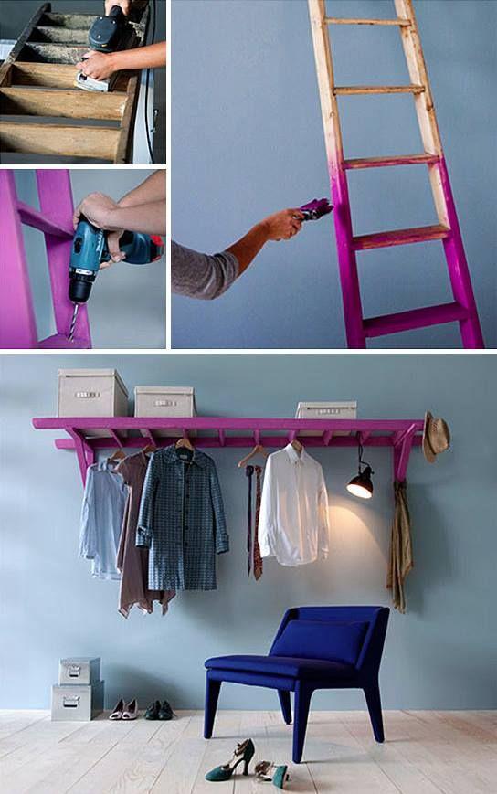 prateleira-escada-de-madeira