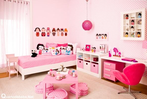 quarto feminino rosa bonecas