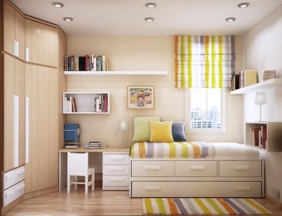 quarto pequeno masculino decorado