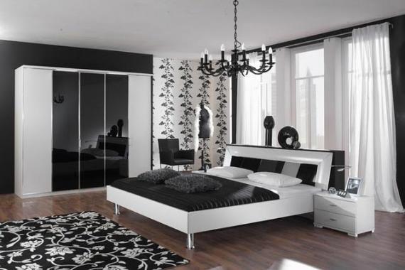 quartos decorados preto e branco