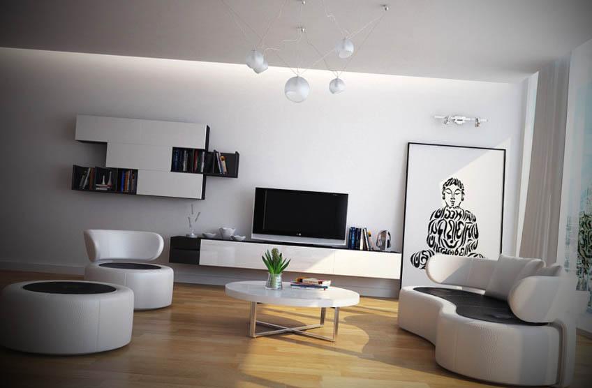 #474310 Fotos de Salas de Estar Moderna 848x556 píxeis em Ambientaçao Moderna De Sala De Estar Fotos