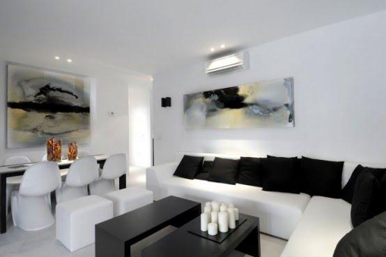 decoracao branca sala : decoracao branca sala:para conseguirmos uma boa combinação de cores na decoração da sala